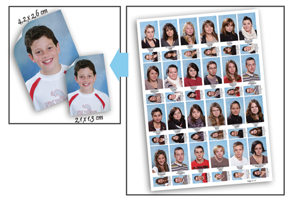 Etiquettes autocollantes photo scolaire Photo Mathieu