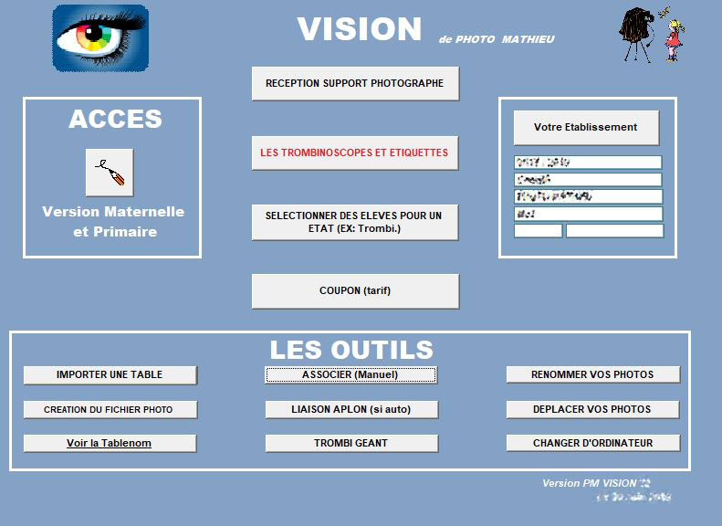 Logiciel Vision Photo Mathieu